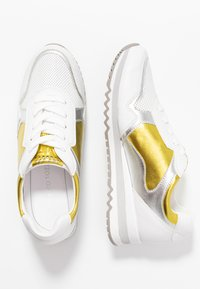 Marco Tozzi - LACE UP - Trainers - white/yellow - 3