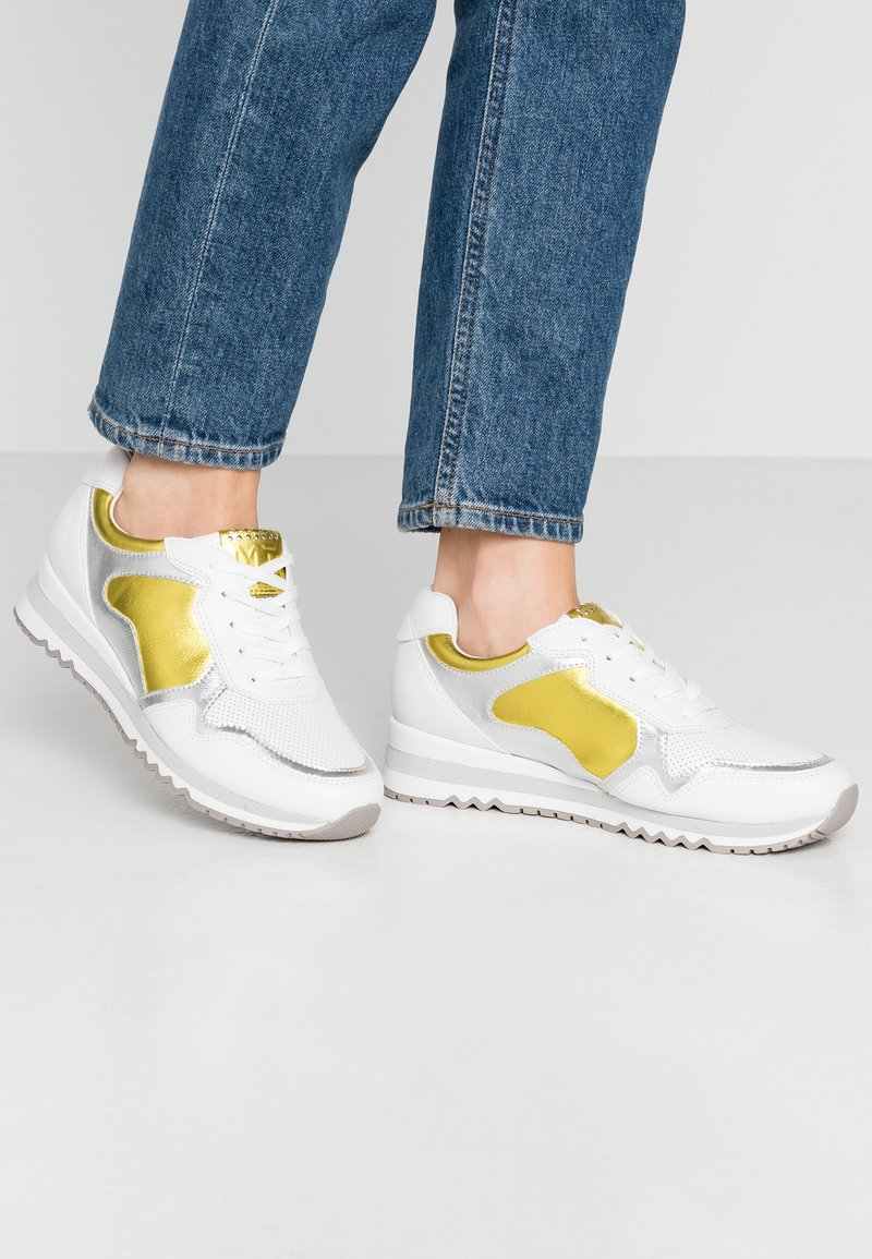 Marco Tozzi - LACE UP - Trainers - white/yellow