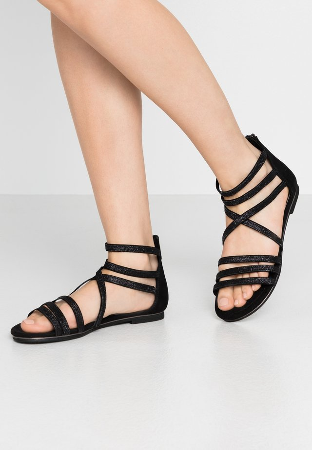 Riemensandalette - black antic