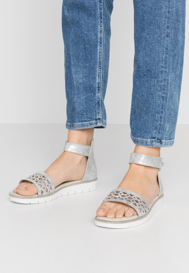 Riemensandalette - light grey metallic