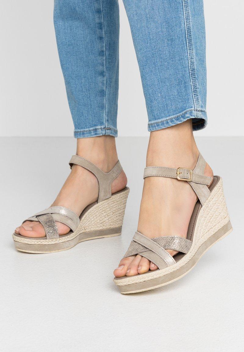 Marco Tozzi - Platform sandals - taupe