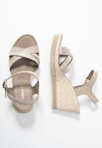 Marco Tozzi - Platform sandals - taupe - 3