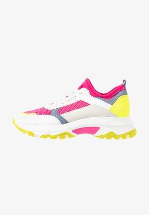 Zapatillas - neon pink, white