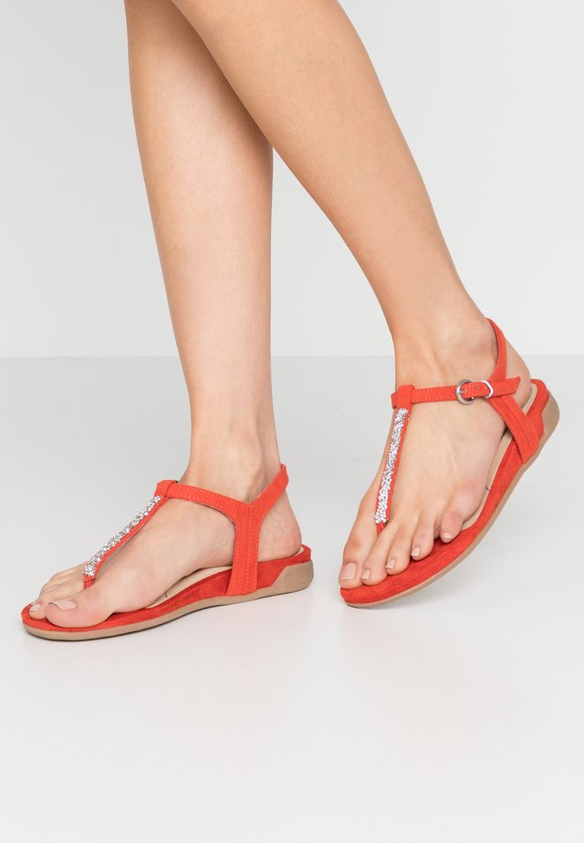 T-bar sandals - burned orange