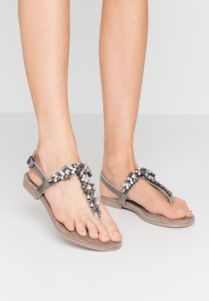 T-bar sandals - pewter