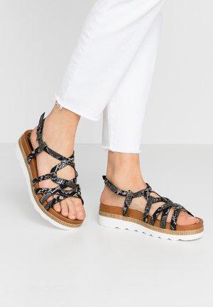 Platform sandals - dark grey