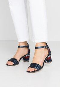 Marco Tozzi - Sandals - navy metallic - 0