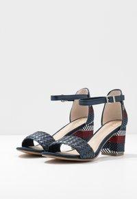 Marco Tozzi - Sandals - navy metallic - 4