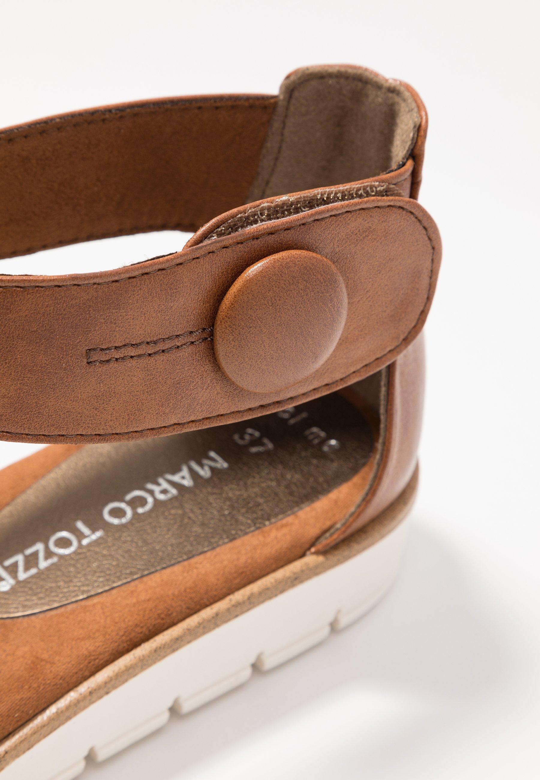 Marco Tozzi Sandalen - Cognac Antic Goedkope Schoenen