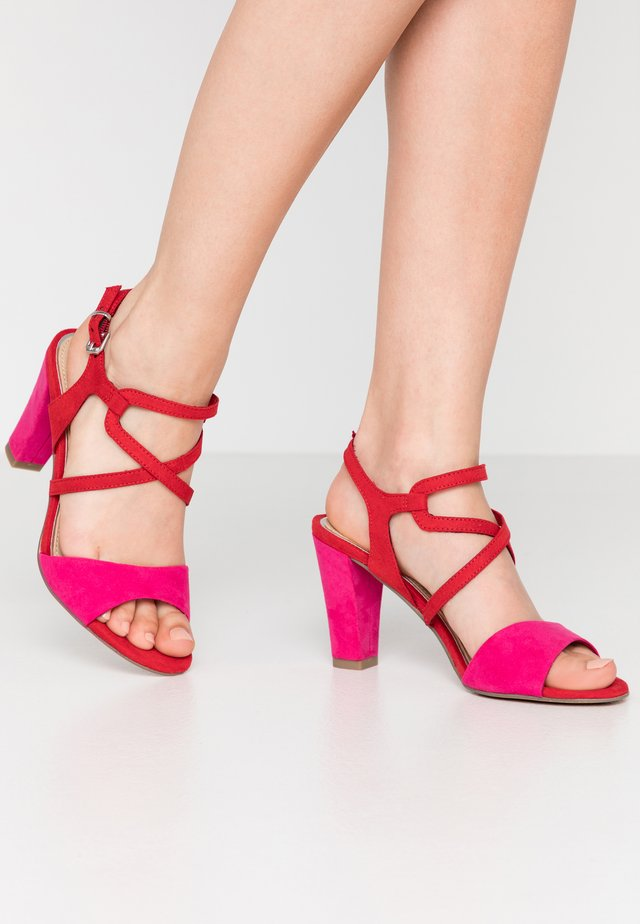 High Heel Sandalette - red