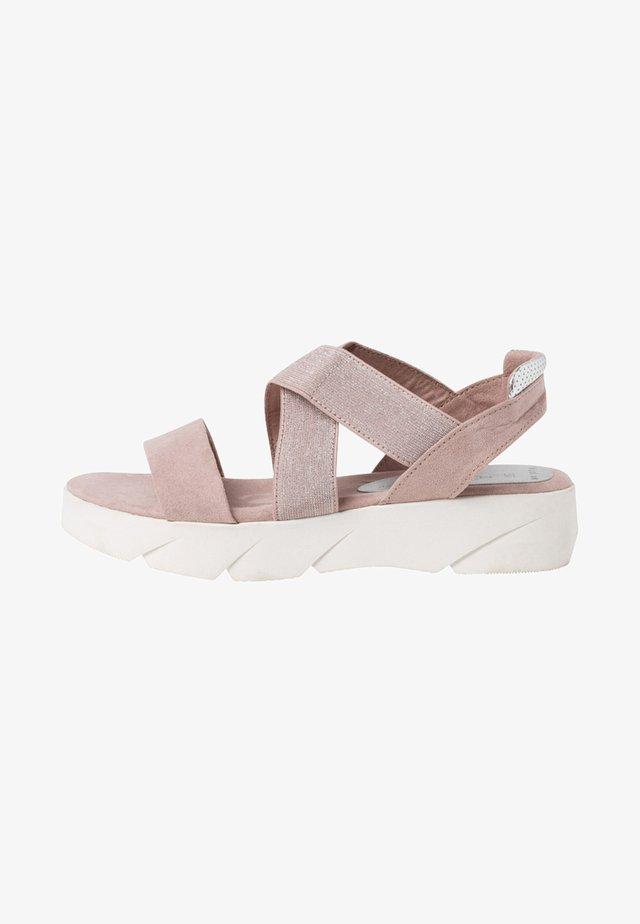 Korkeakorkoiset sandaalit - old pink