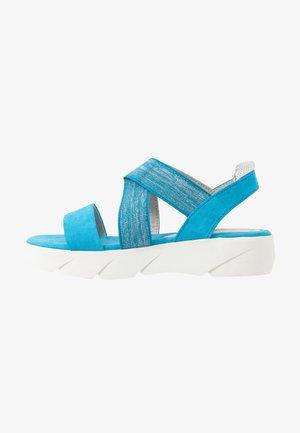 Sandali con plateau - malibu blue