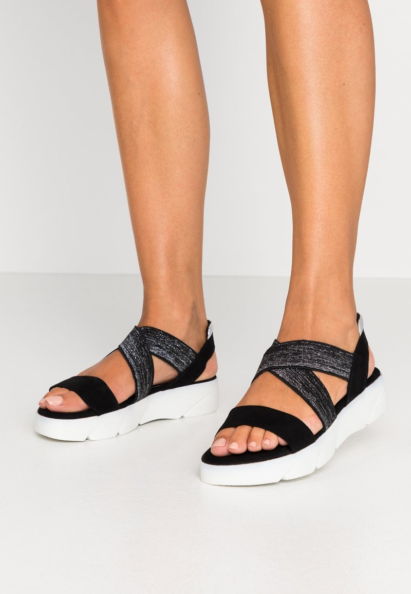 Marco Tozzi - Platform sandals - black