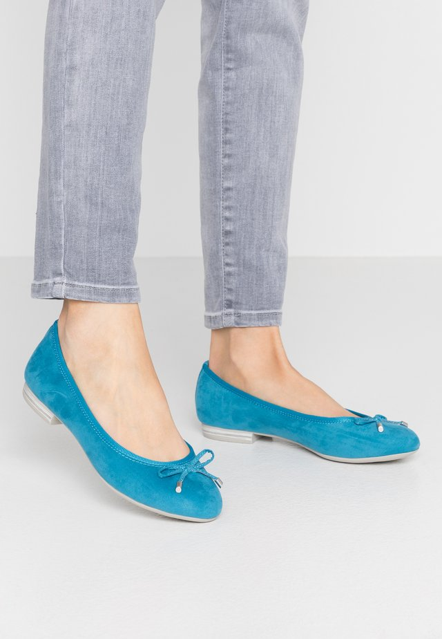 Ballet pumps - monarch blue
