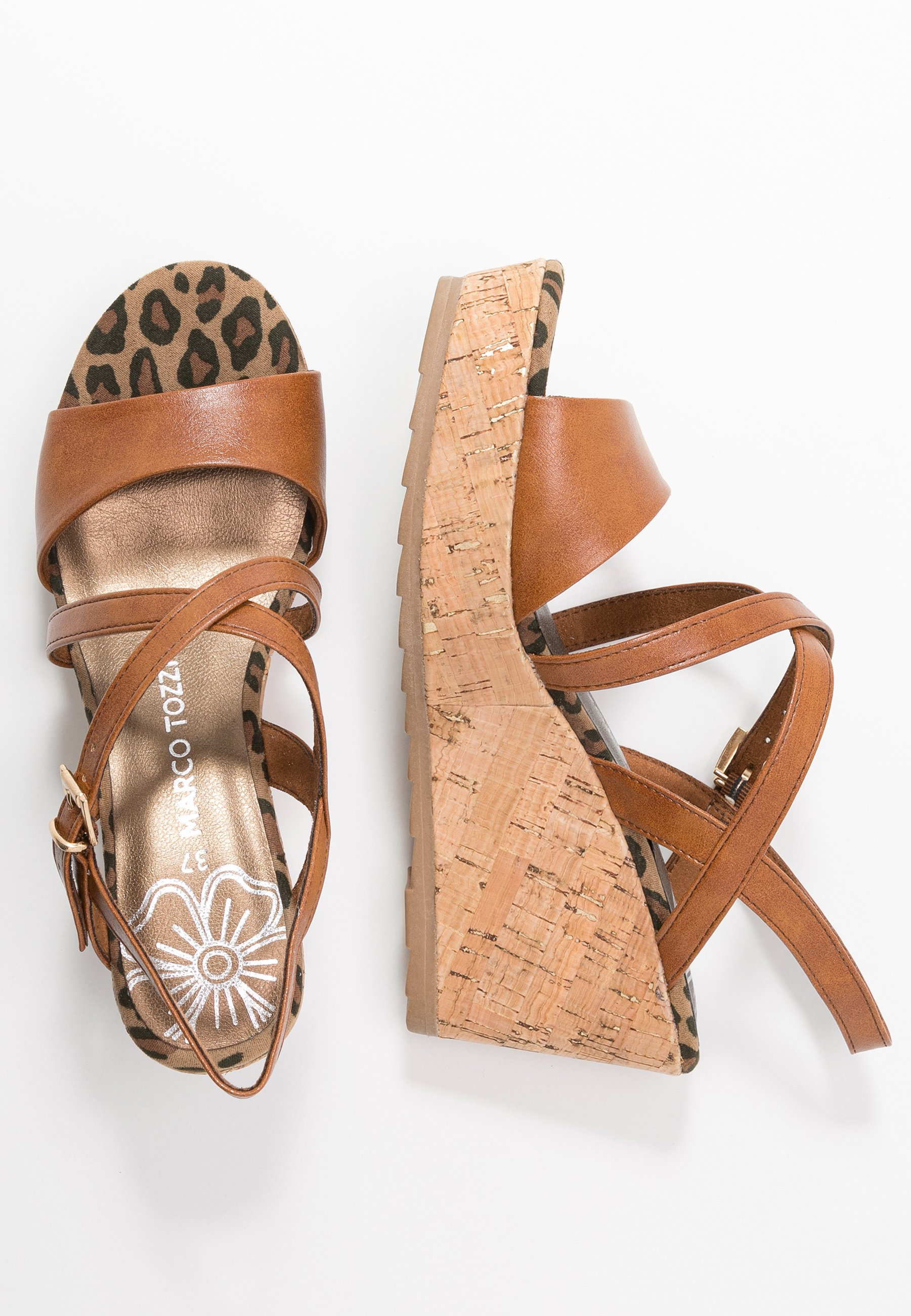 Marco Tozzi Højhælede sandaletter / Højhælede sandaler - cognac