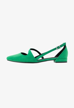 Ankle strap ballet pumps - green