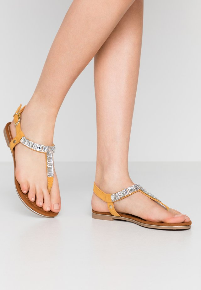 T-bar sandals - saffron