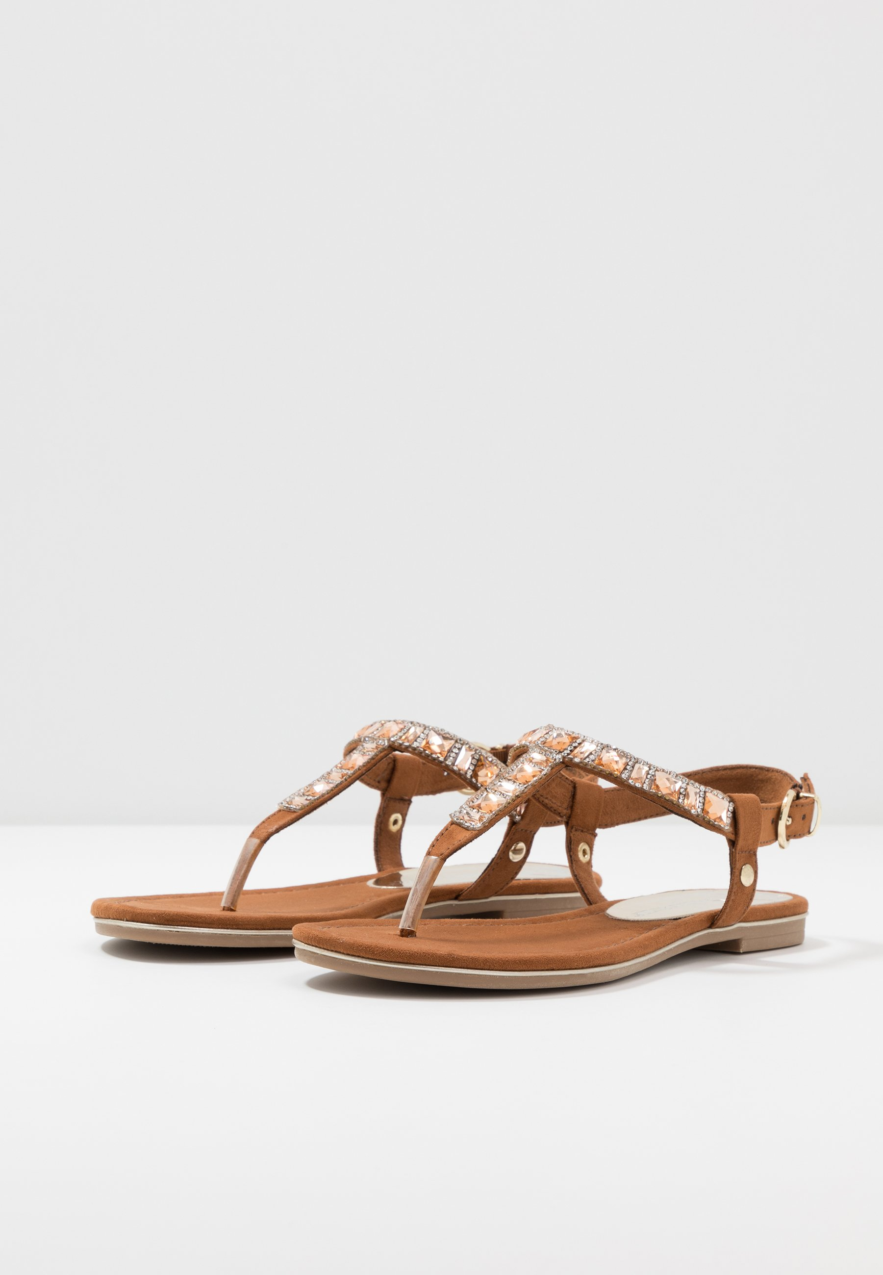 Marco Tozzi T-bar Sandals - Cognac