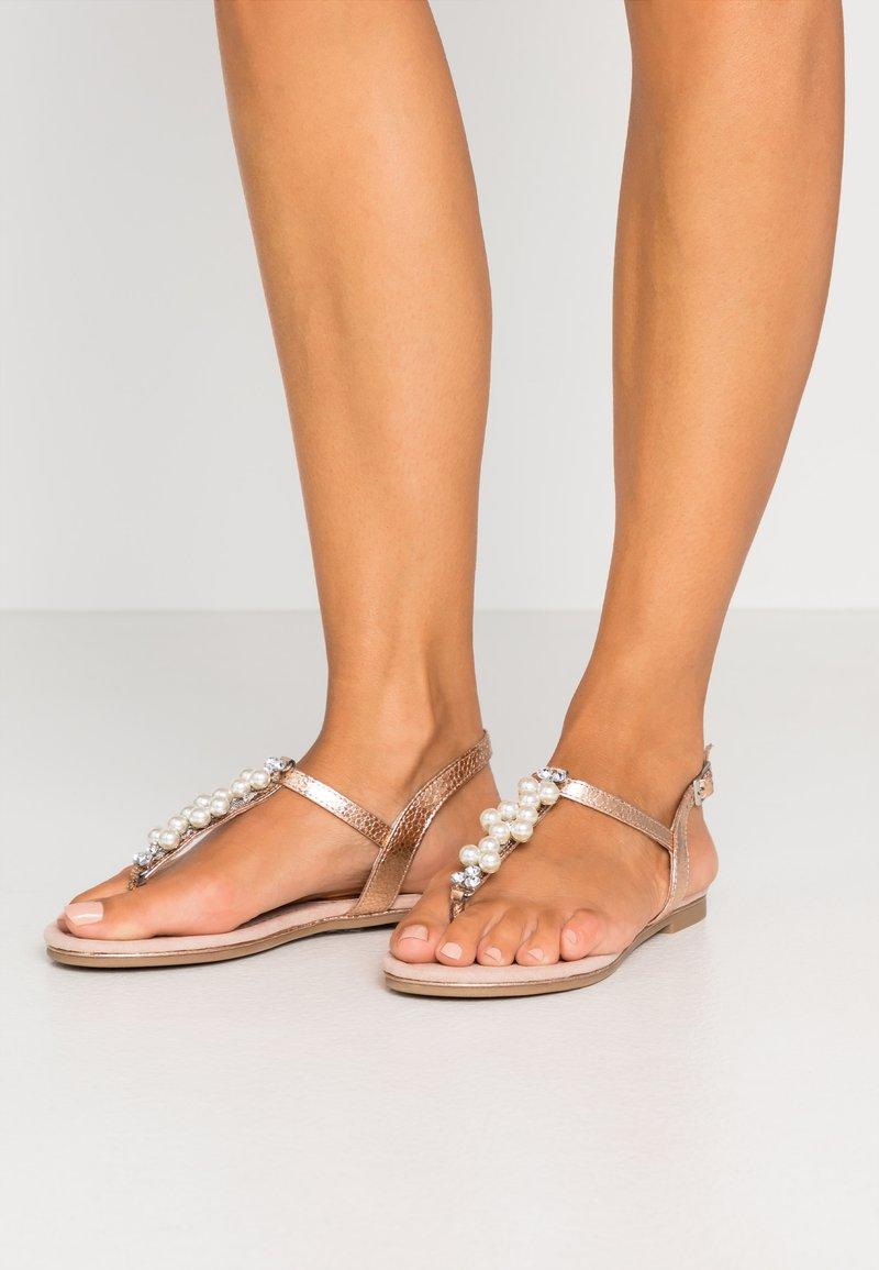 Marco Tozzi - T-bar sandals - rose metallic