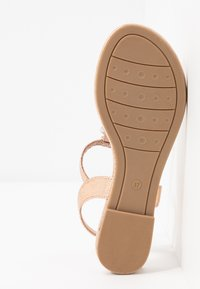 Marco Tozzi - T-bar sandals - rose metallic - 6