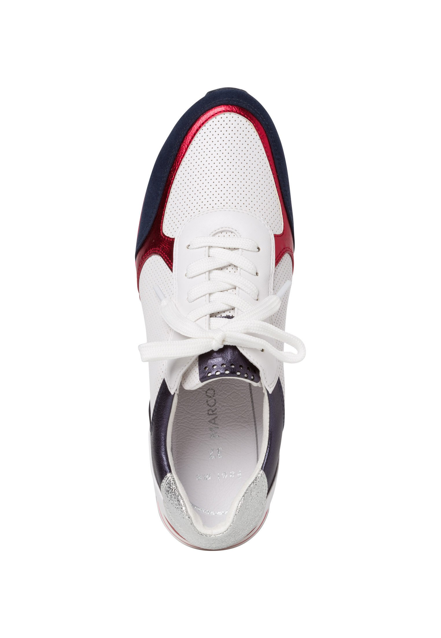 Marco Tozzi Sneaker - Sneakers White/navy