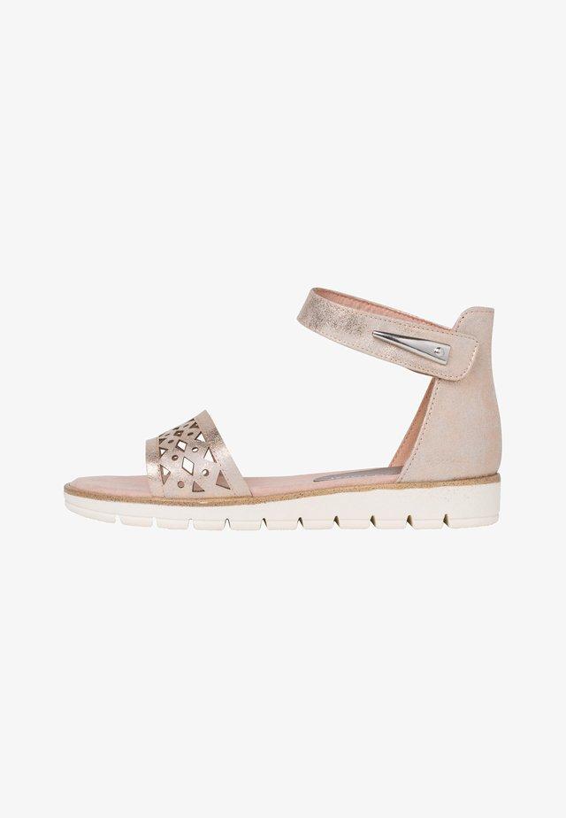 Ankle cuff sandals - rose metallic