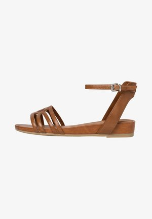 Ankle cuff sandals - nut