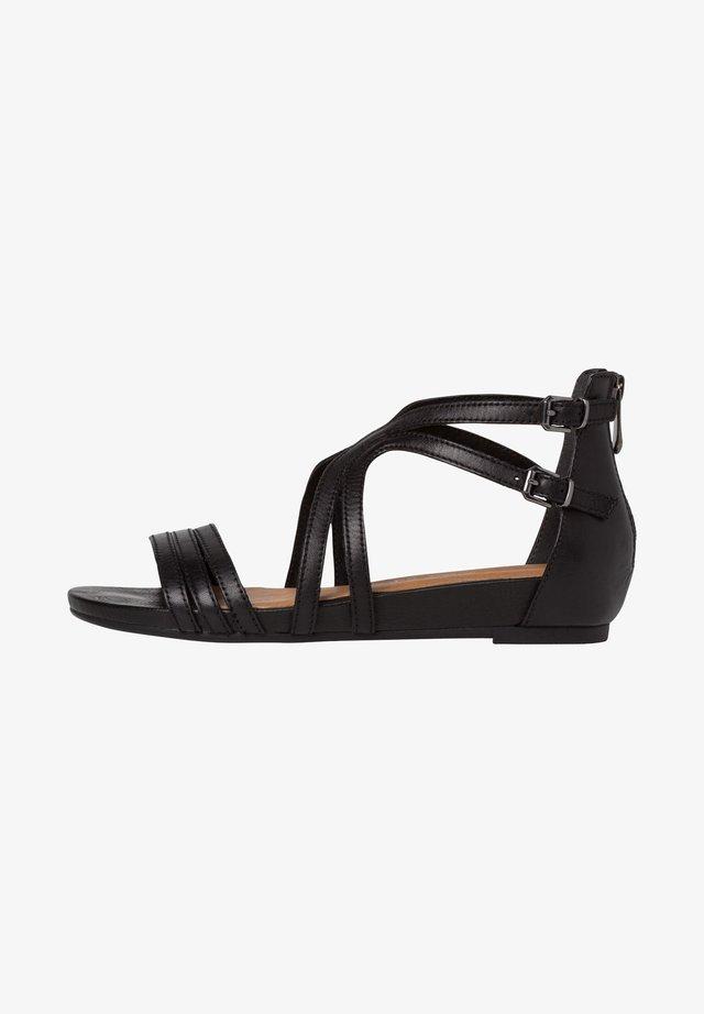 Sandaler med skaft - black