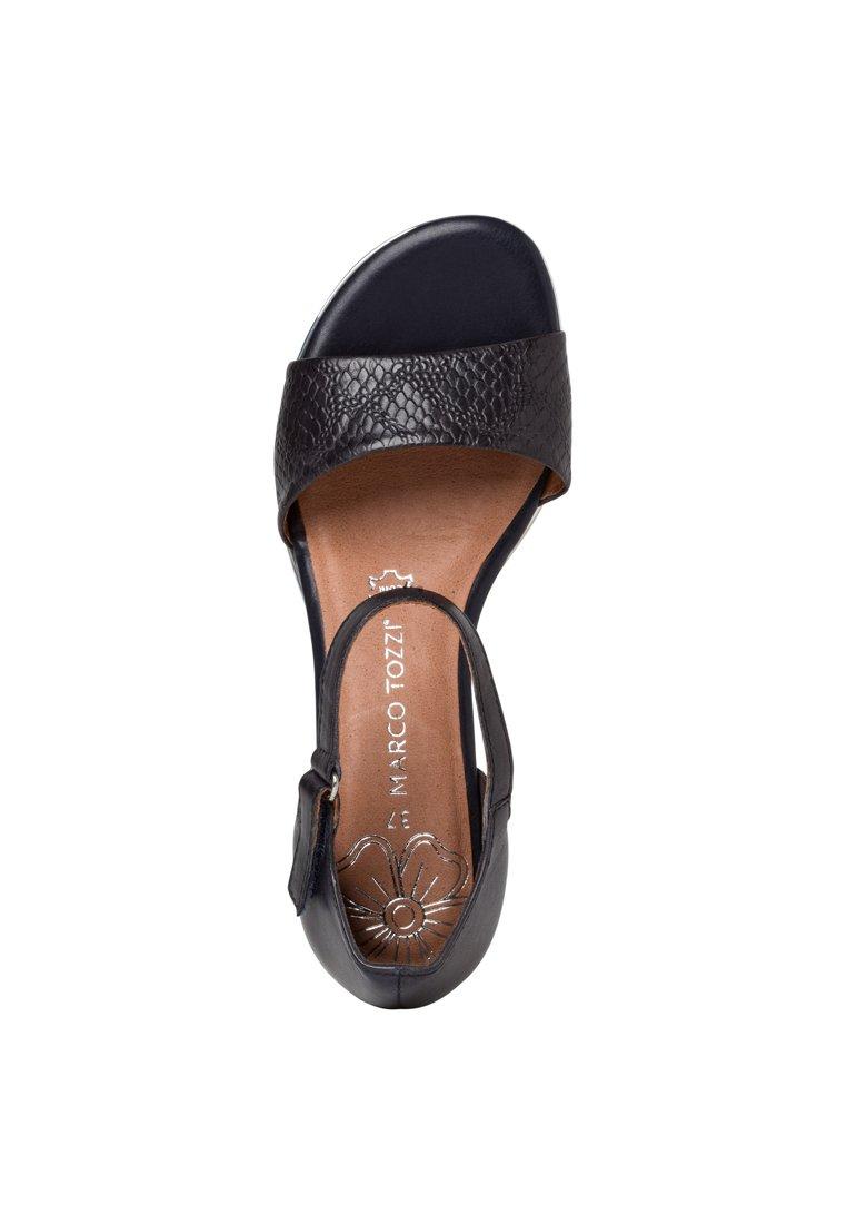 Sandaletter med kilklack navy