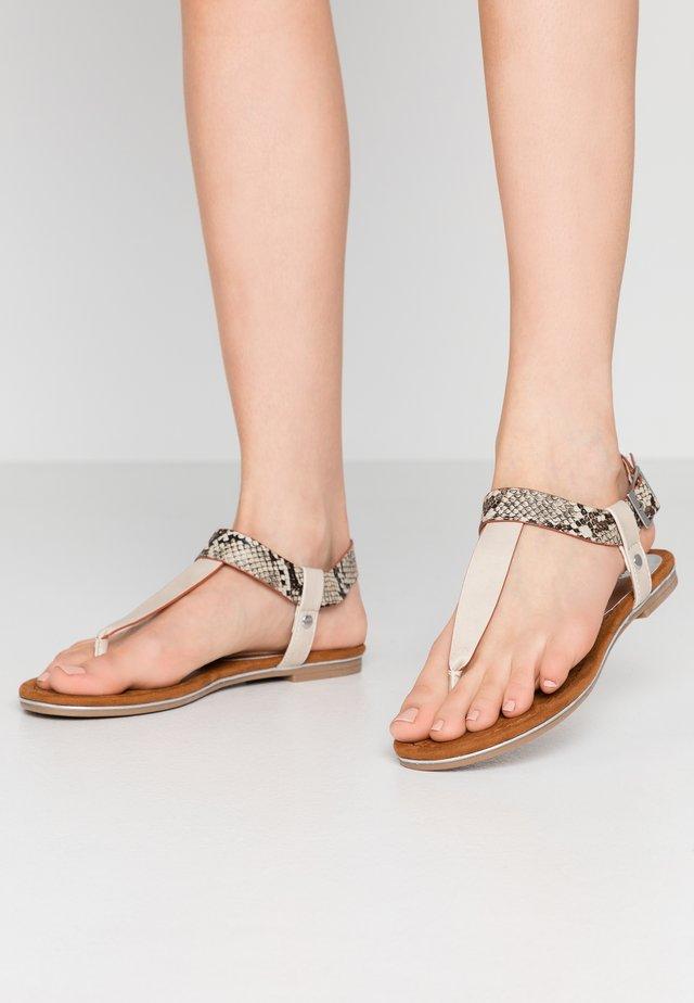 T-bar sandals - dune