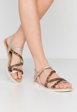 Sandaalit nilkkaremmillä - dune/metallic