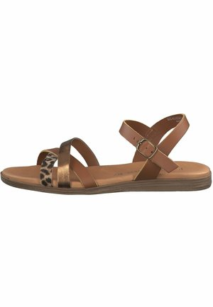 Sandals - cognac comb