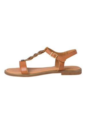 Sandals - cognac comb