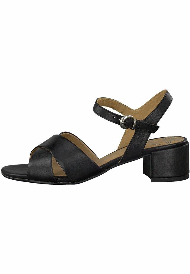 MARCO TOZZI - Sandaalit nilkkaremmillä - black