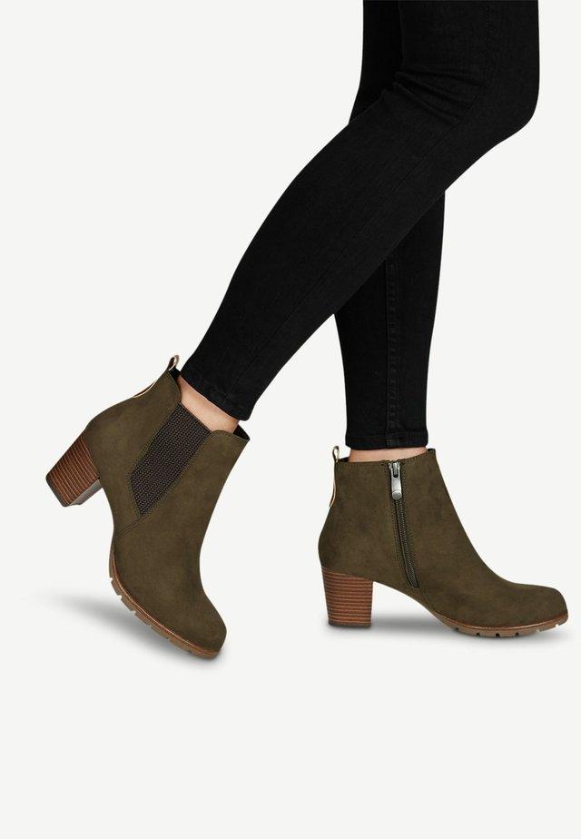 STIEFELETTE - Ankle Boot - khaki comb