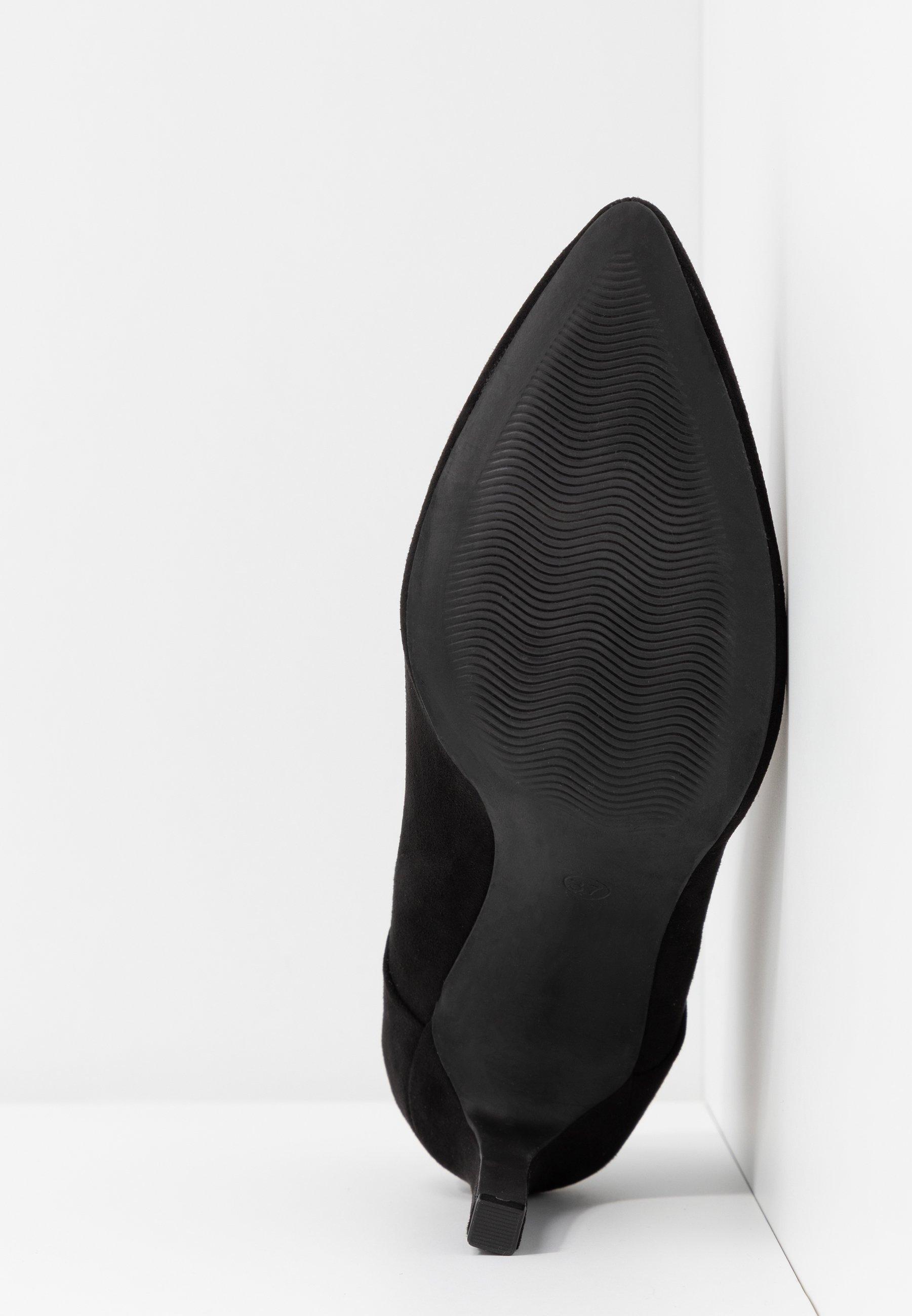Marco Tozzi Botki na obcasie - black