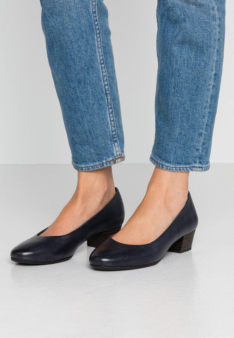Marco Tozzi - COURT SHOE - Classic heels - navy