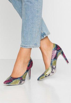 High heels - multicolor