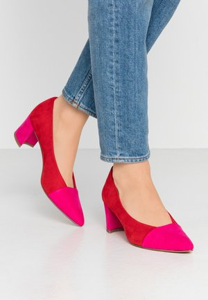 Classic heels - red/pink