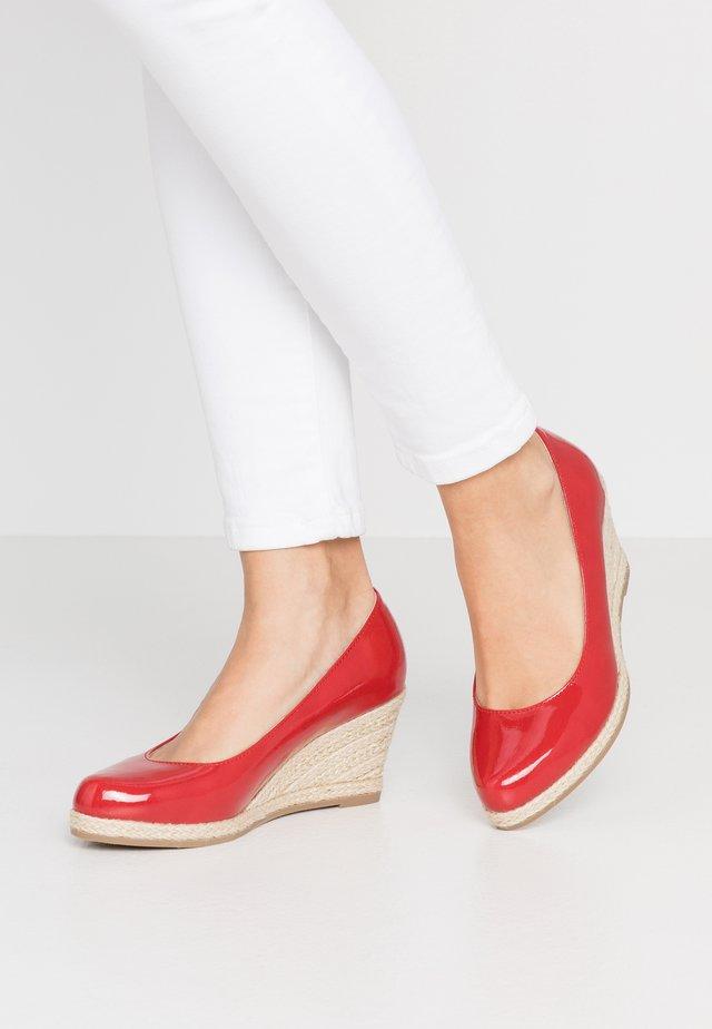 Sleehakken - red
