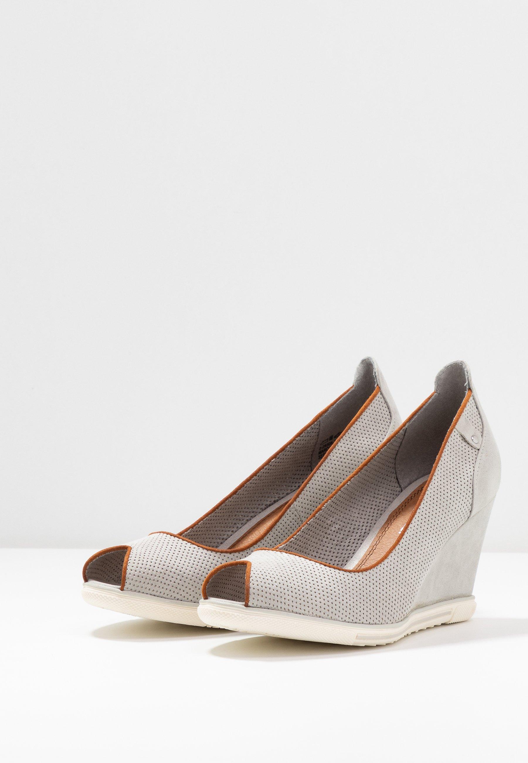 Marco Tozzi Peep toes - grey