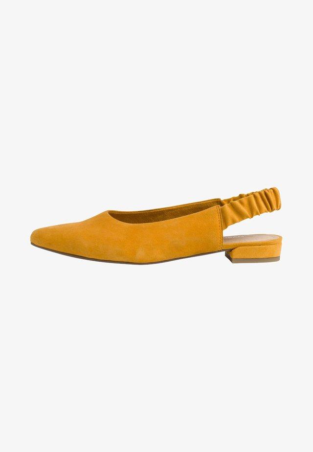 Ballerinaskor med slingback - saffron