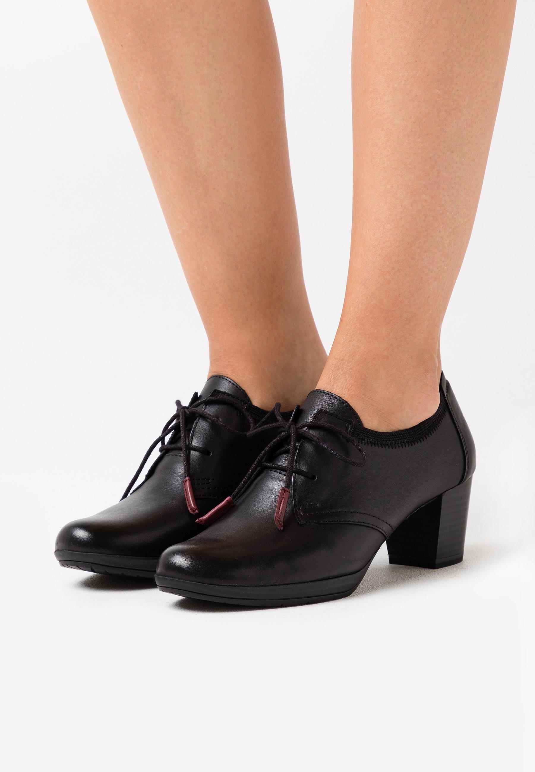 LACE UP Korte laarzen black antic