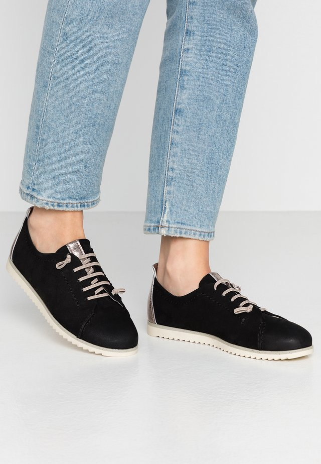 LACE UP - Casual lace-ups - black