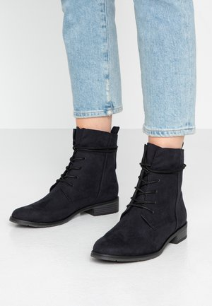 Lace-up ankle boots - dark navy