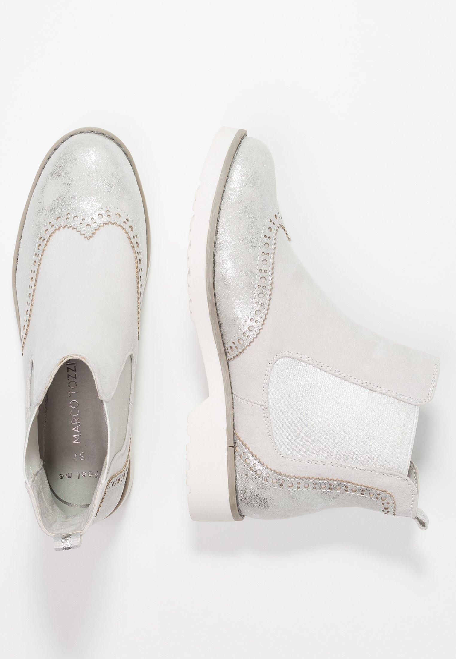 Marco Tozzi Boots À Talons - Light Grey
