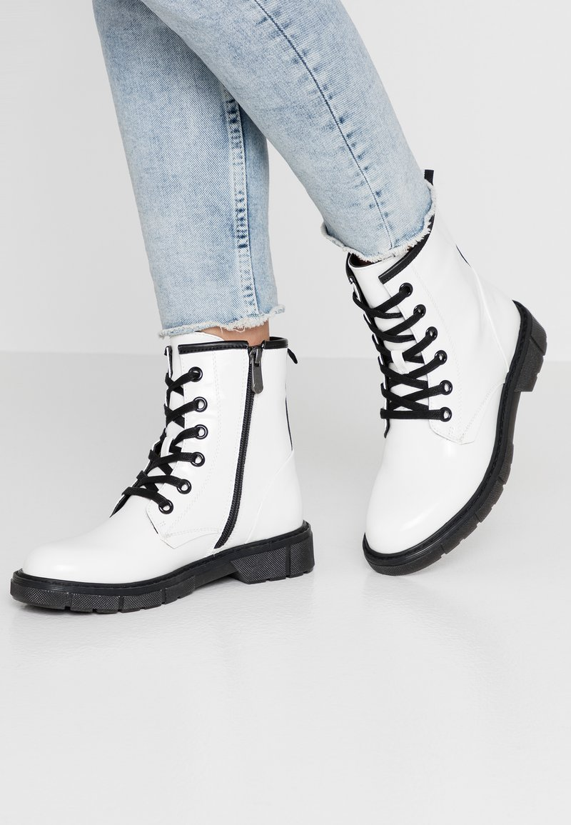 Marco Tozzi - Lace-up ankle boots - white