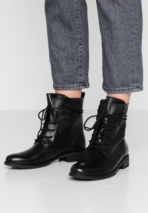 Bottines à lacets - black antic