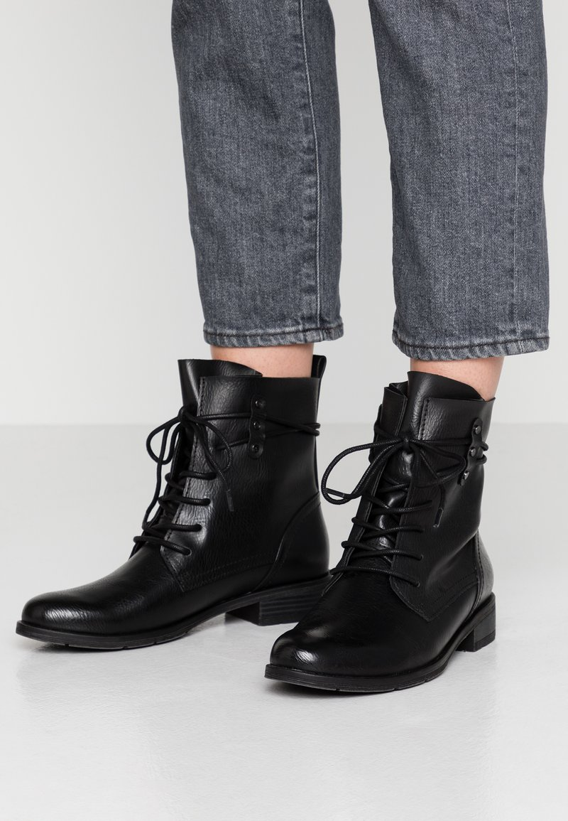 Marco Tozzi - Lace-up ankle boots - black antic