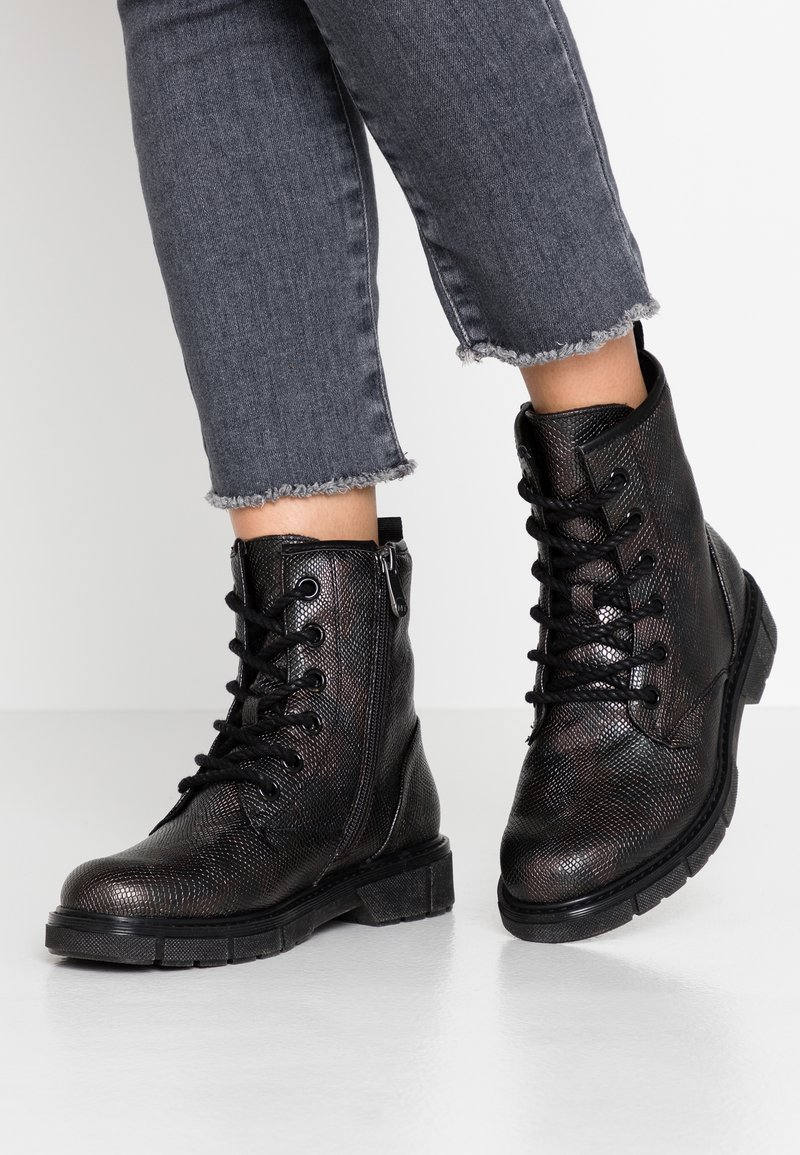 Marco Tozzi - BOOTS - Lace-up ankle boots - copper